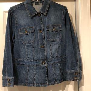 Liz Claiborne Jean Jacket w/detachable fur collar